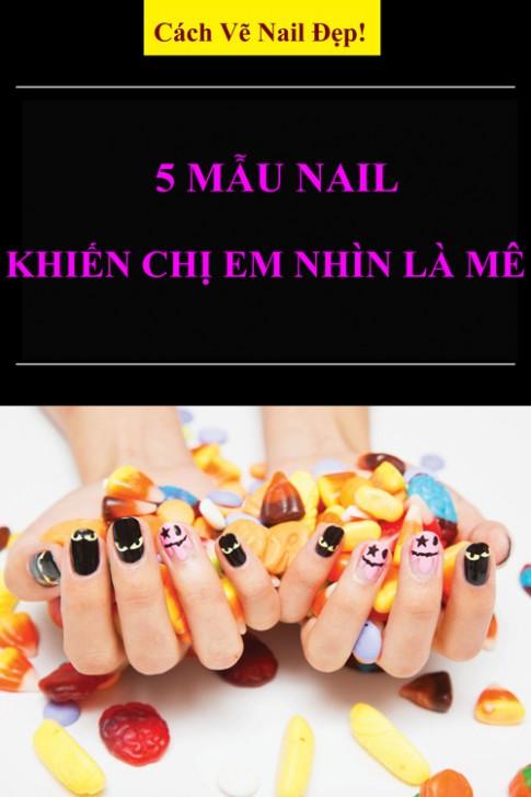 5 mau nail cho tay xinh khien chang me man