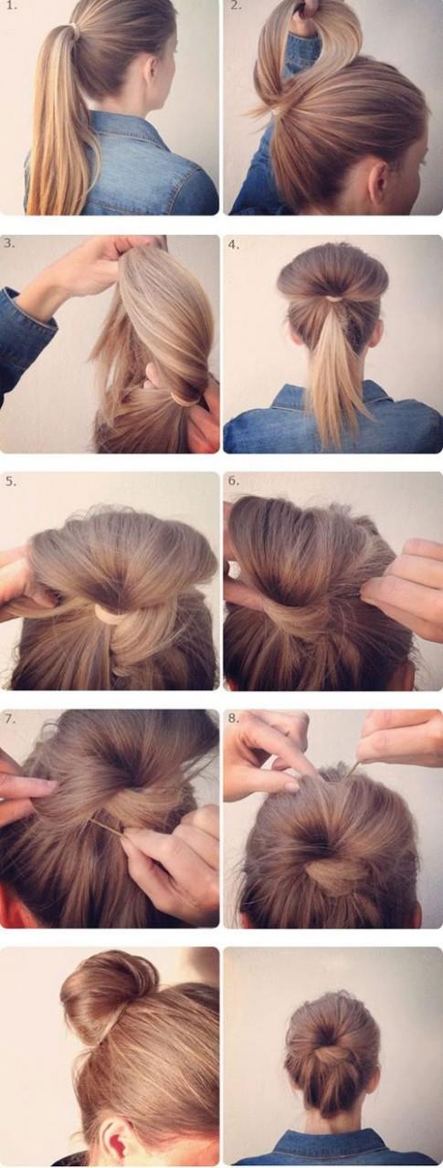 6 kiểu tóc búi quyến rũ chàng chẳng mất một xu