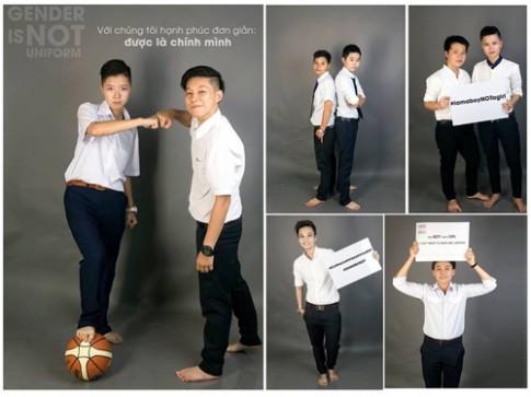 Ảnh đồng phục của nam sinh chuyển giới Việt gây xôn xao