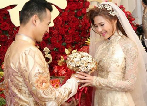 Cận cảnh áo dài kiêu sa, sang trọng của cô dâu Thúy Diễm