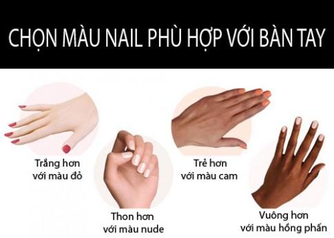 Chon mau nail phu hop voi mau da cua ban