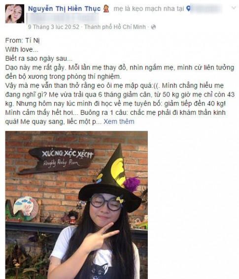 """Con gai Hien Thuc viet van ta me """"nhu tre trau thu thiet"""""""