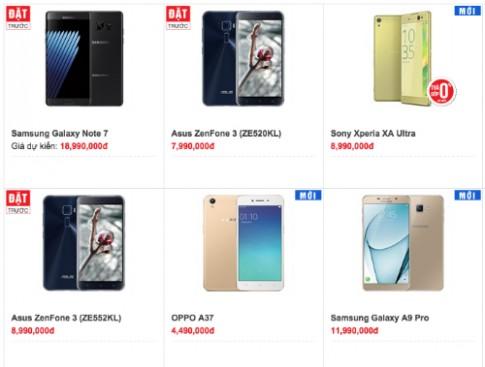 Galaxy Note 7 co gia du kien tu 19 trieu dong, ban giua thang 8