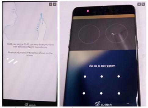 Galaxy Note 7 lo tinh nang mo khoa vong mac