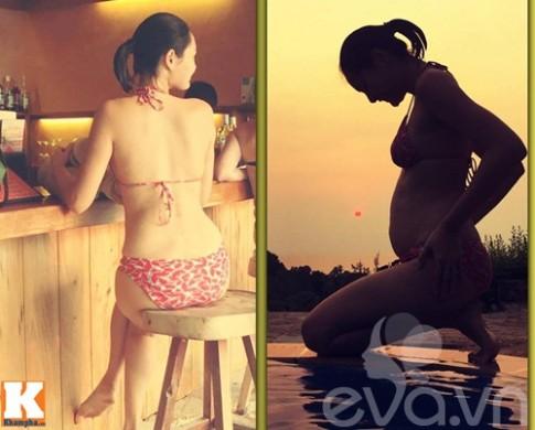 HH Hương Giang lần đầu khoe bụng bầu khi mang thai lần 2