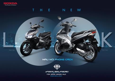 Honda Air blade 125 2016 bổ sung thêm màu mới với 2 phiên bản Xám