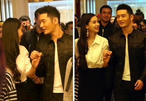 Huynh Hieu Minh va Angelababy hiem hoi di su kien