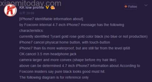 iPhone 7 chong nuoc nhung chua dat chuan IP68