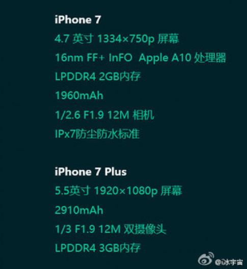 iPhone 7 Plus se co pin 2.910 mAh