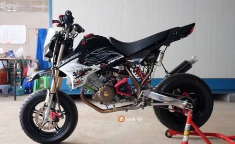 Kawasaki KSR độ kịch độc với khối động cơ DOHC từ CBR