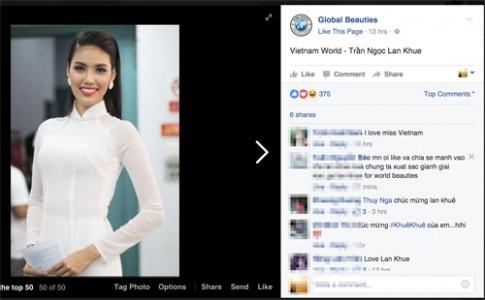 Lan Khuê lọt top 50 Mỹ nhân đẹp nhất Thế giới