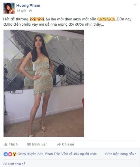 Phạm Hương gây sốt khi diện lại váy ở HHHV 2015