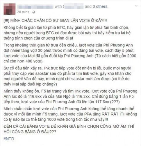 """The Face Vietnam bi to cao gian lan truoc dem loai """"cang"""" nhat?"""