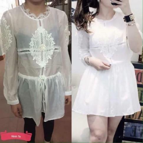 Tranh cãi quanh chiếc váy trắng thảm họa mua đồ online