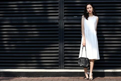 Váy đầm thanh tao của hot girl Hà Nội đẹp như thiên thần