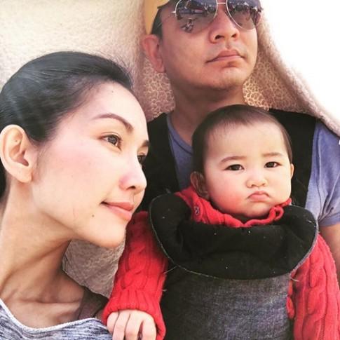 Vợ chồng Kim Hiền cùng con gái đến cổ vũ Sonic thi chạy