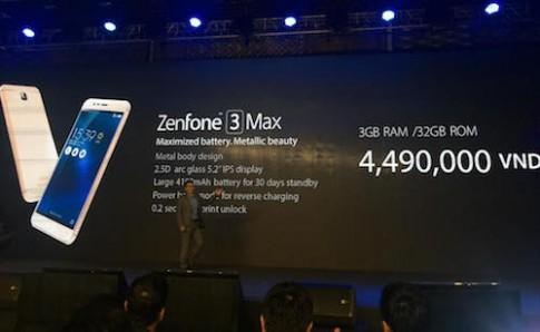 Zenfone 3 Max pin cho 30 ngay, gia 4,5 trieu dong