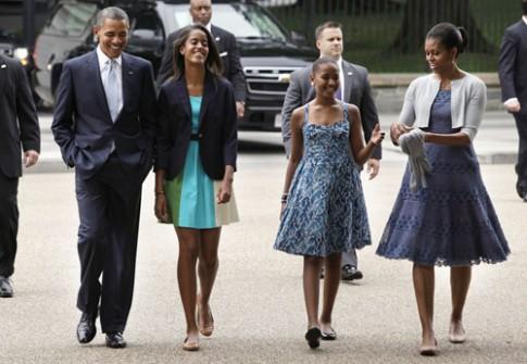 Con gai lon TT Obama duoc yeu men vi chi mac do binh dan