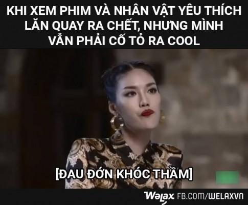 Cuoi te ghe voi anh che bieu cam kho do cua Lan Khue