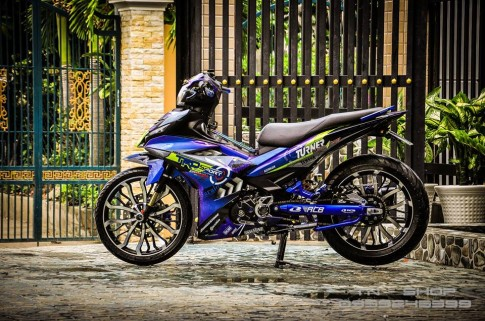 Exciter 150 do chat lu cua cac biker mien Tay