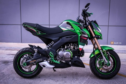 Kawasaki Z125 do day phong cach voi dan option noi bat