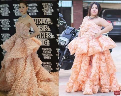 """Nàng béo cực xinh nổi đình nổi đám nhờ màn nhái váy """"bá đạo"""""""