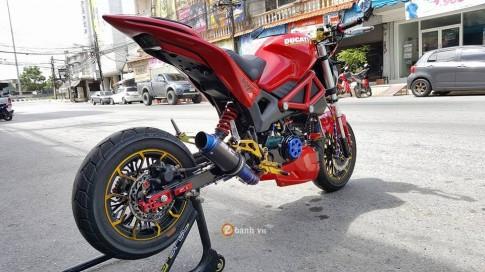 An tuong cung chiec Ducati Monster phien ban minibike