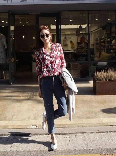 Áo sơ mi nữ công sở đẹp Hàn Quốc cho bạn gái hơi gầy vai ngang hè 2017