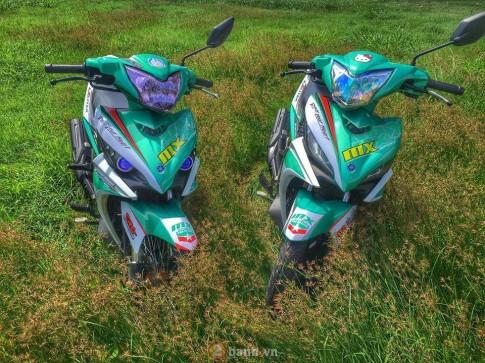 Cap doi Exciter theo phong cach MX King cua cac biker Long Khanh
