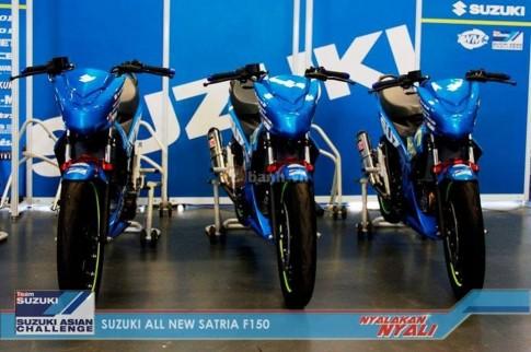 Chi tiet phu tung tren chiec Suzuki Satria F150 FI phien ban Racing