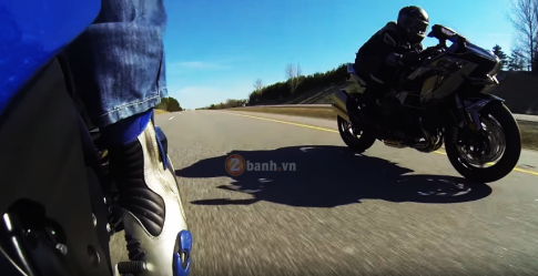 [Clip] Man test toc do giua Kawasaki Ninja H2 va Suzuki GSX-R1000 2012 do