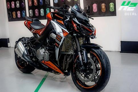 H2 Decal lai tiep tuc trinh lang Kawasaki Z1000 trong dan ao moi