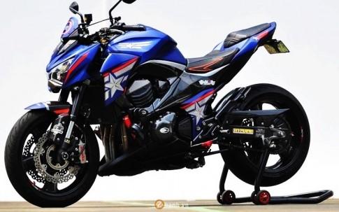 Kawasaki Z800 sieu ngau trong phien ban Captain America