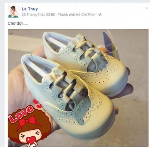 Le Thuy mong ngong co bau sau hon 1 nam ket hon