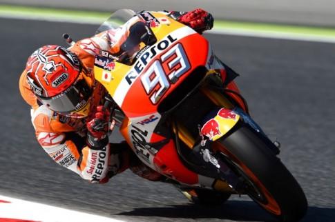 Moto GP: Marquez da mang ve cho minh vi tri pole thu ba trong mua giai