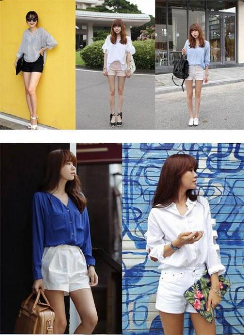 Quần short nữ đẹp Hàn Quốc trẻ trung năng động cho bạn gái đón hè 2017