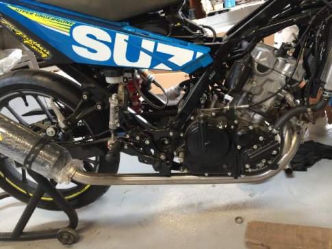 Suzuki Satria F150 phien ban do voi he thong turbo charger len den 45 ma luc