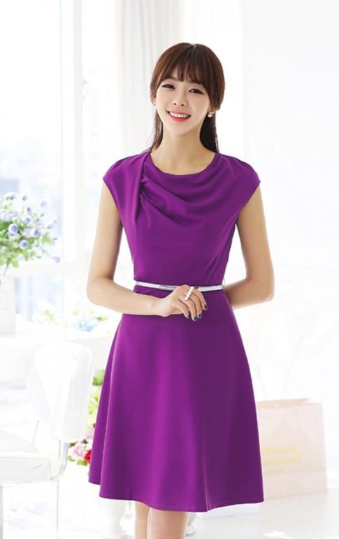 Váy đầm xòe Hàn Quốc đẹp hè 2017 cho nàng đi dự tiệc đầy gợi cảm
