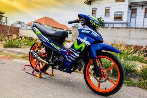 Yamaha Jupiter phien ban Movistar do phong cach xe chay san