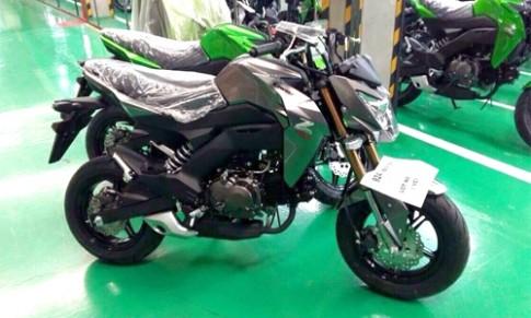 Anh dau tien cua Kawasaki Z125 - doi thu Honda MSX 125