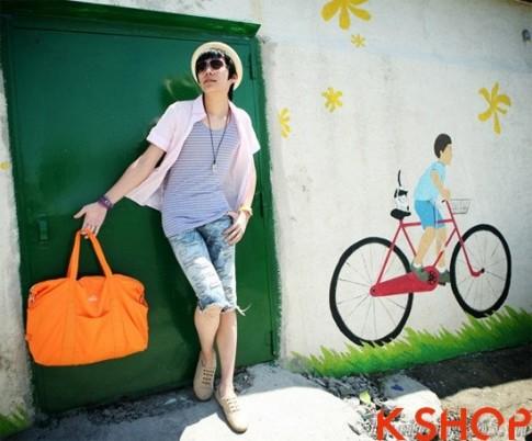Ao so mi nam kieu Han Quoc dep cho teen boy nang dong ngay he 2017