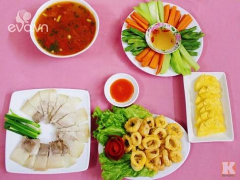 Bữa cơm chiều thanh mát, dễ ăn cho ngày nóng