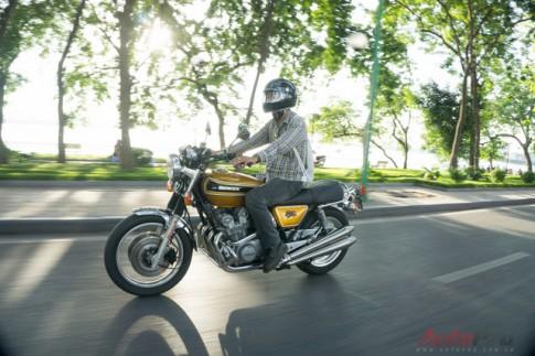 Cận cảnh hàng hiếm Honda CB750 Four dọn lại của biker Hà Thành