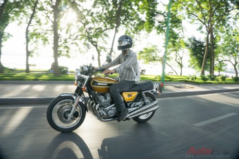 Can canh hang hiem Honda CB750 Four don lai cua biker Ha Thanh