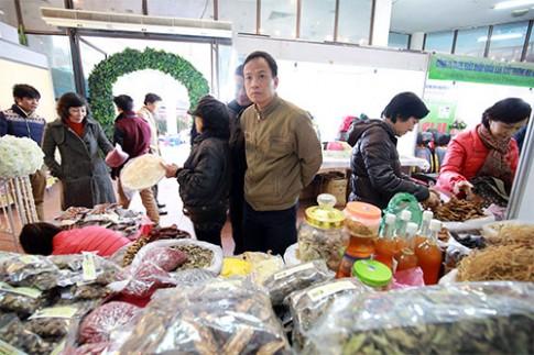 """Cận tết đi """"chợ"""" đặc sản rừng giữa Thủ đô"""