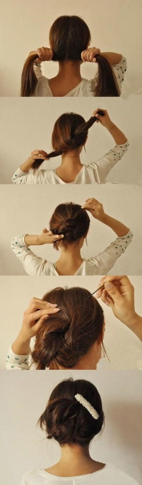 Chỉ với 3 phút, bạn có thể nhanh chóng có được 14 kiểu tóc dưới đây