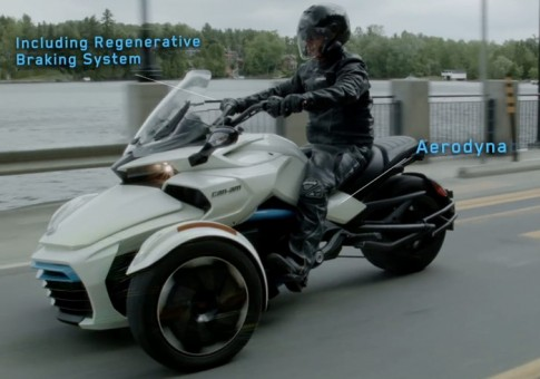 [Clip] Sieu mo to 3 banh Can-Am Spyder F3-S E Concept chay dien chinh thuc lo dien
