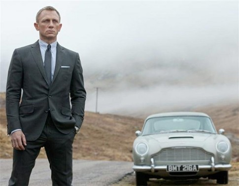 Dan xe trong phim 007 moi
