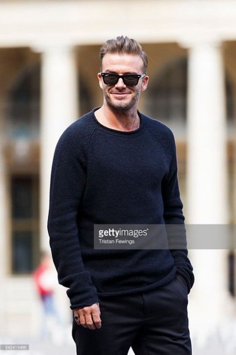 David Beckham cuon hut cuc do tai show Louis Vuitton