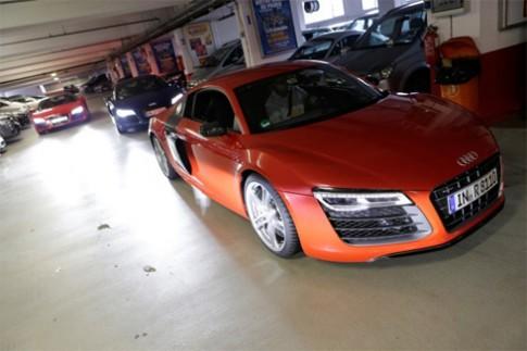 Doan sieu xe Audi R8 thach thuc Ferrari